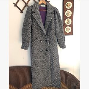 Vintage Tweed Wool Top Coat
